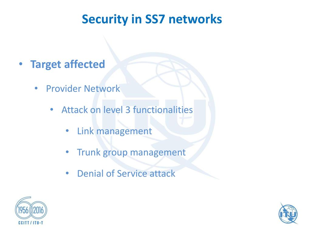 "ITU Workshop on ""SS7 Security"" Geneva, Switzerland 29 June"