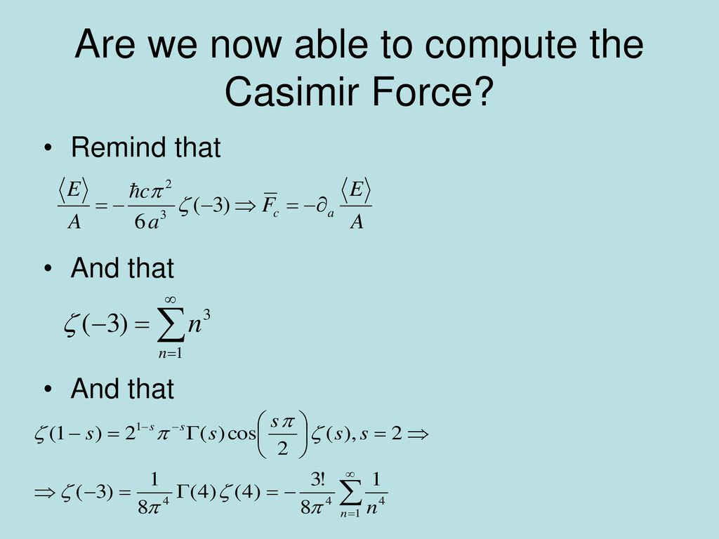 Are we now able to compute the Casimir Force