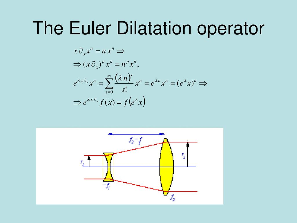 The Euler Dilatation operator
