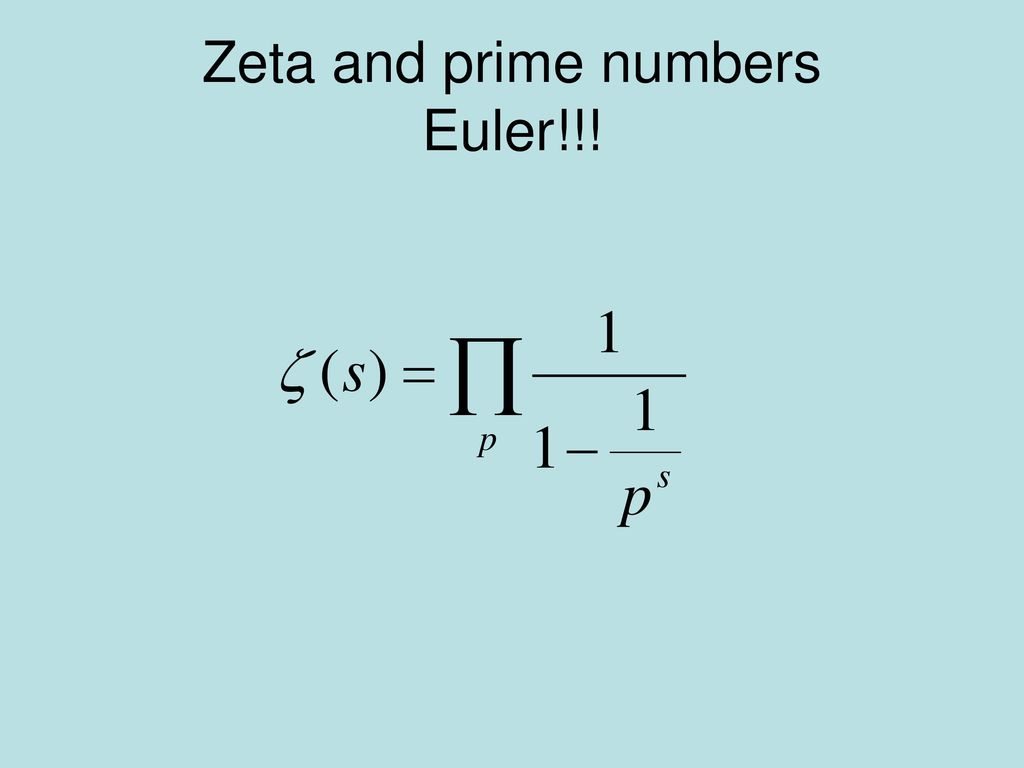 Zeta and prime numbers Euler!!!