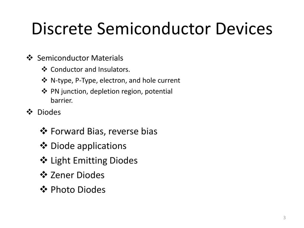 15a04301 Electronic Devices And Circuits Ppt Download Power Supplies Discrete Semiconductor