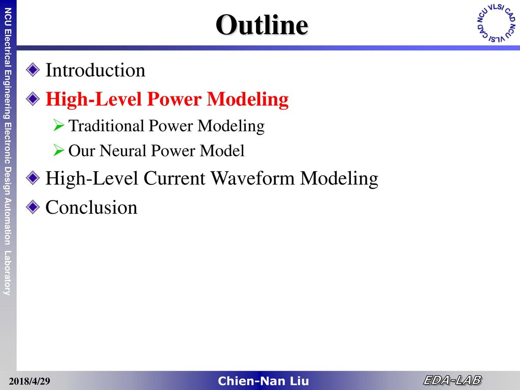 High Level Power Noise Estimation Of Vlsi Designs Ppt Download Eda Electronic Design Automation Group 18 Outline Introduction