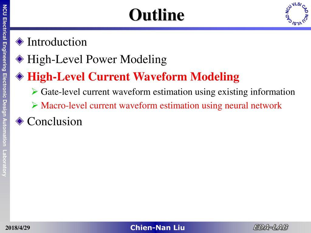 High Level Power Noise Estimation Of Vlsi Designs Ppt Download Eda Electronic Design Automation Group 51 Outline Introduction