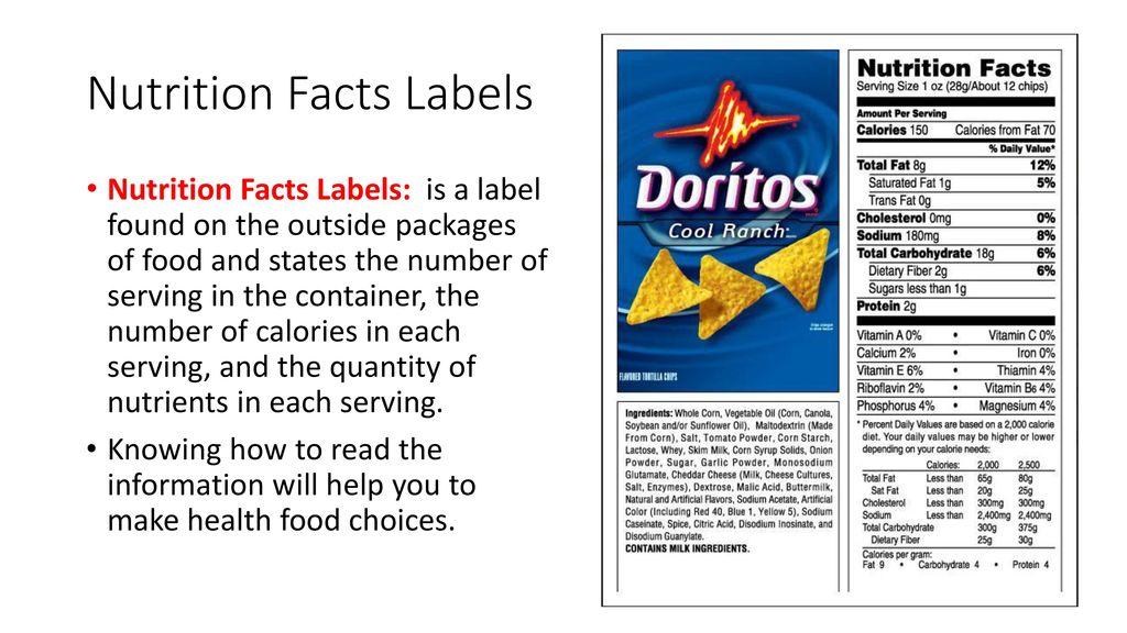 Lesson 2 Food Labels Ppt Download