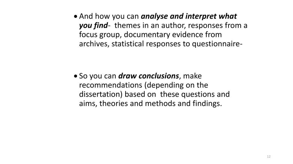 how to present focus group findings in dissertation