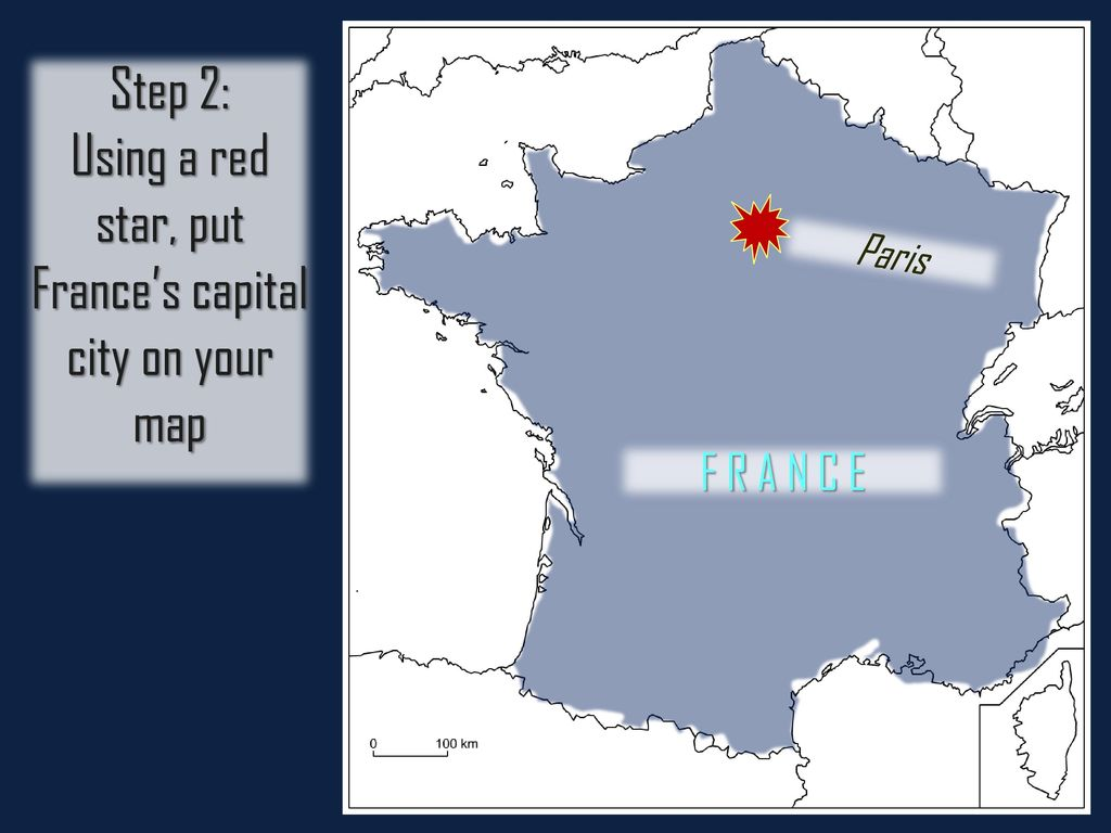 Capital Of France Map.France Map Activity Ppt Download