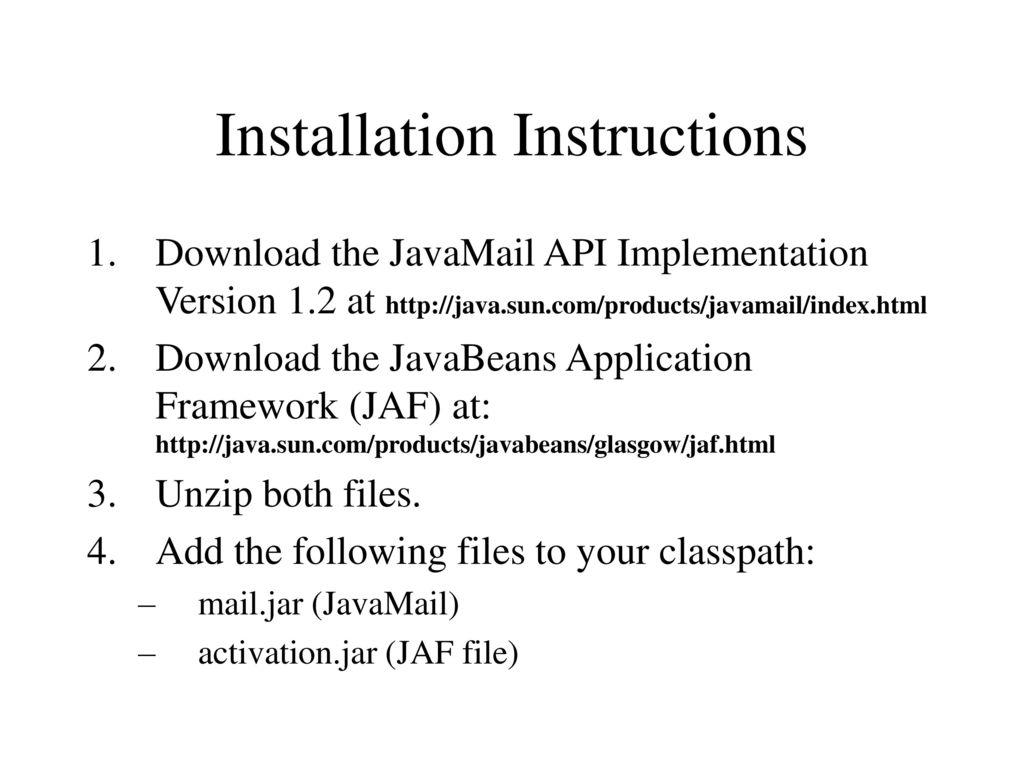 Abbeartio • blog archive • java activation framework jar free download.