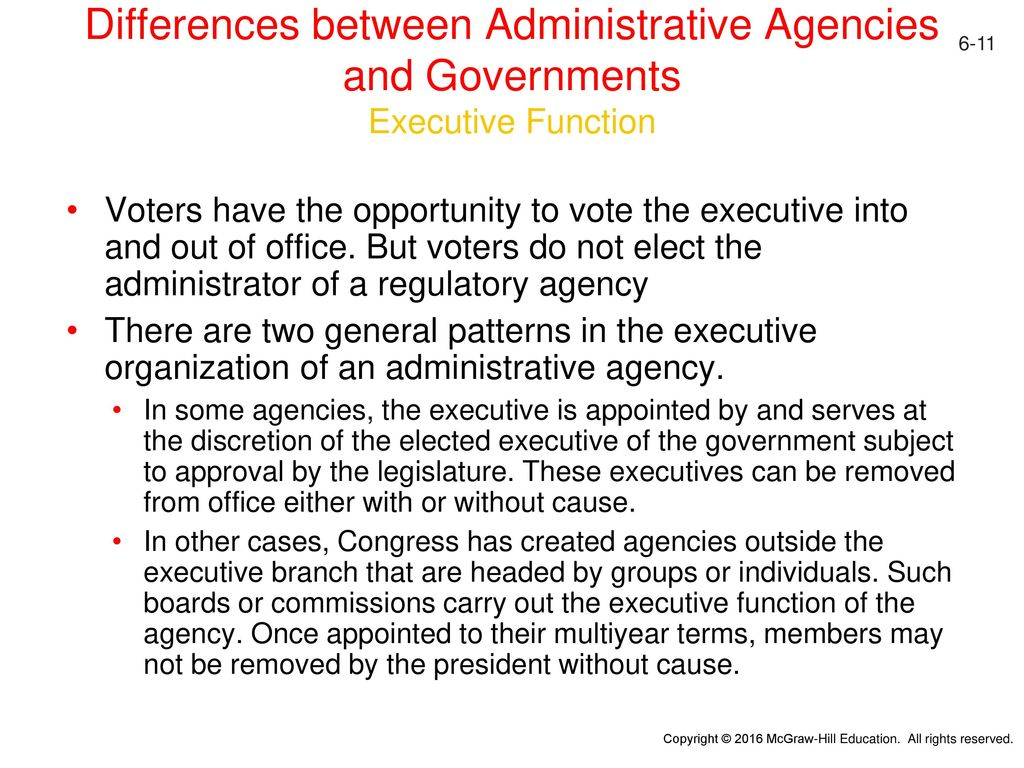 Whats The Difference Between Administrative And Executive >> Administrative Agencies Ppt Download