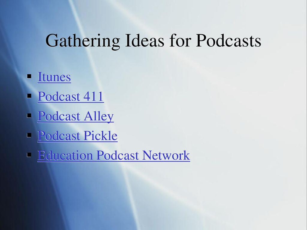 Podcasting in Education - ppt download