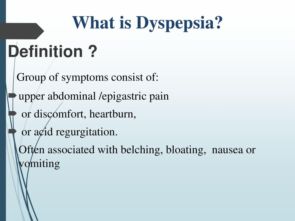 What is dyspepsia 57