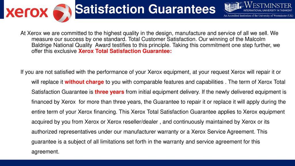 Customer Satisfaction Guarantee Examples