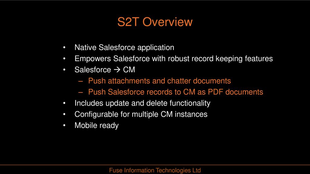 HPE Content manager TO SALEFORCE INTEGRATIONs - ppt download