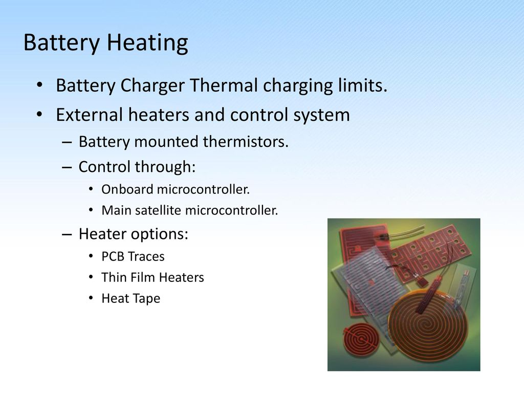 Satellite Electrical Power System Eps Design Review Ppt Download Thermal Controlled Battery Charger 6 Heating