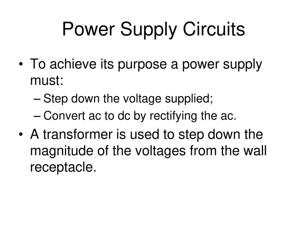 Rectifiers Filters And Regulators Half Wave Rectifier Ripple Regulated Voltage Power Supply Circuit Diagram Powersupplycircuits 2 Circuits
