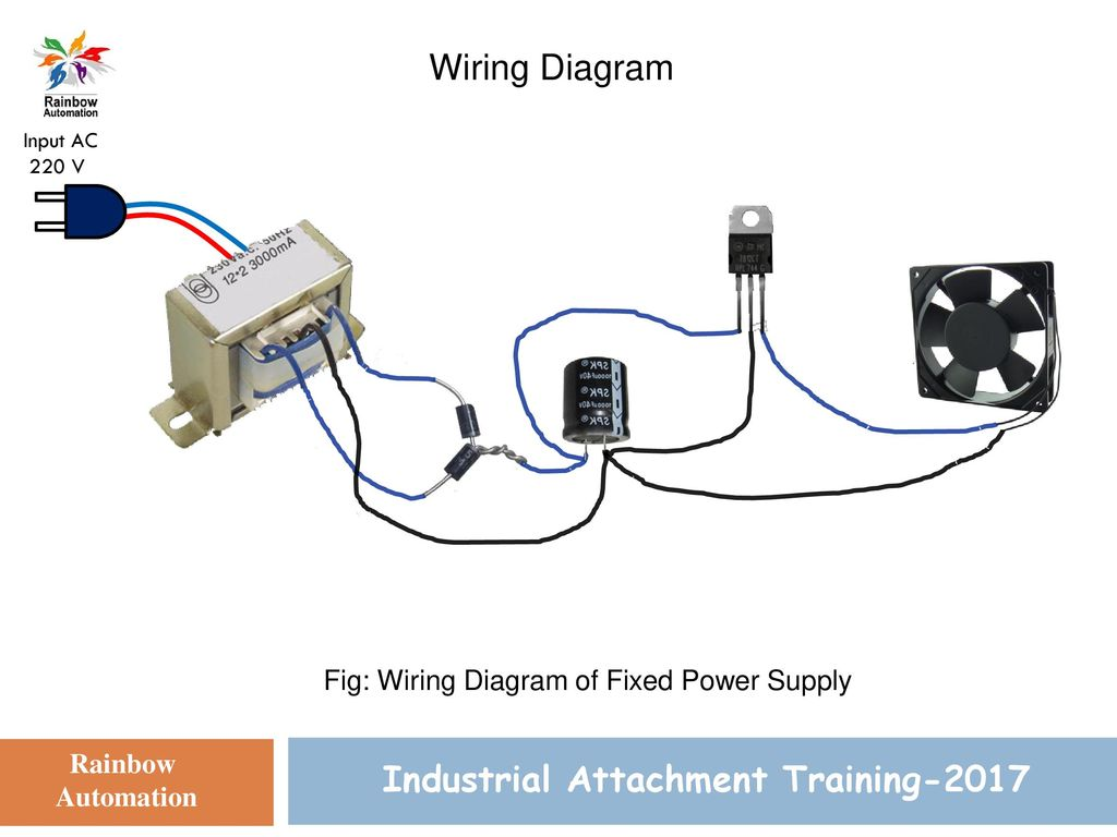 Power Supply Design Industrial Attachment Training 2017 Presented By Wiring 220 Volt Ac 13 Diagram Input V