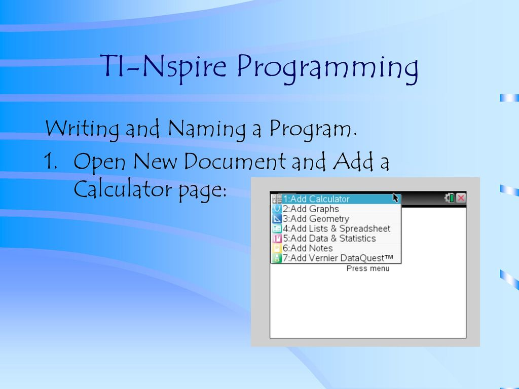 Programming on the TI-84 and TI-Nspire - ppt download