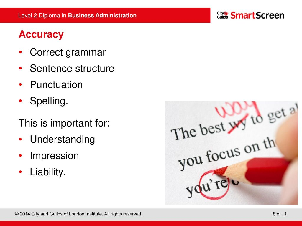 importance of using correct grammar sentence structure punctuation spelling