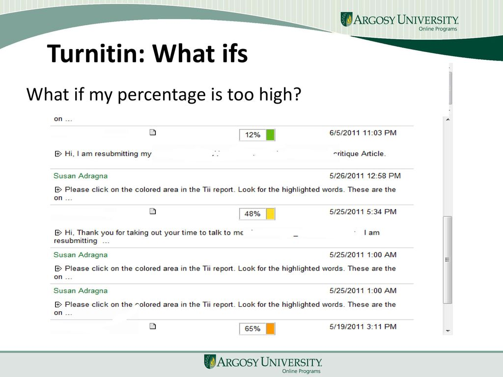 what is a good turnitin percentage