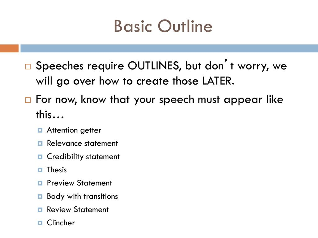 basic skeleton of formatting speech outline Sample keyword outline for informative speech 2 speech basic spee - spring 2016 memory los public add sample informative skeleton-working speech outline 2 viewing now.