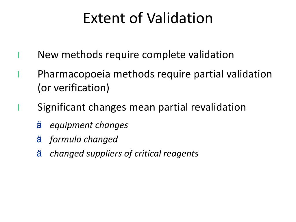 Validating new reagents