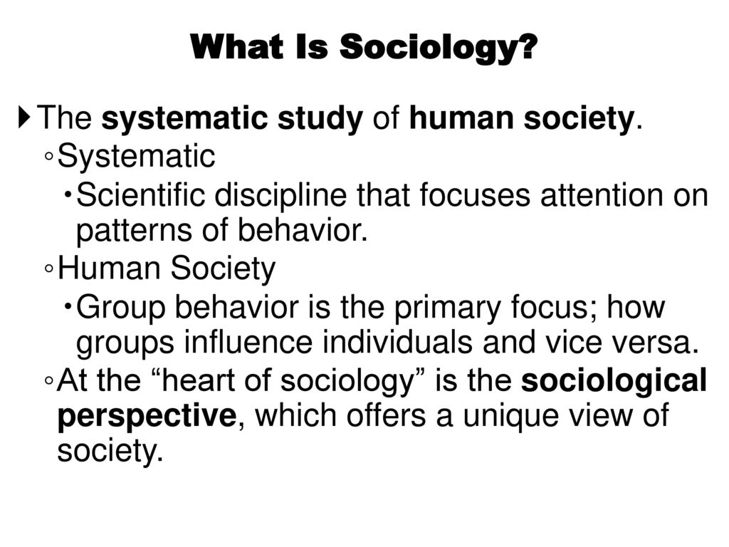 What is sociology 32