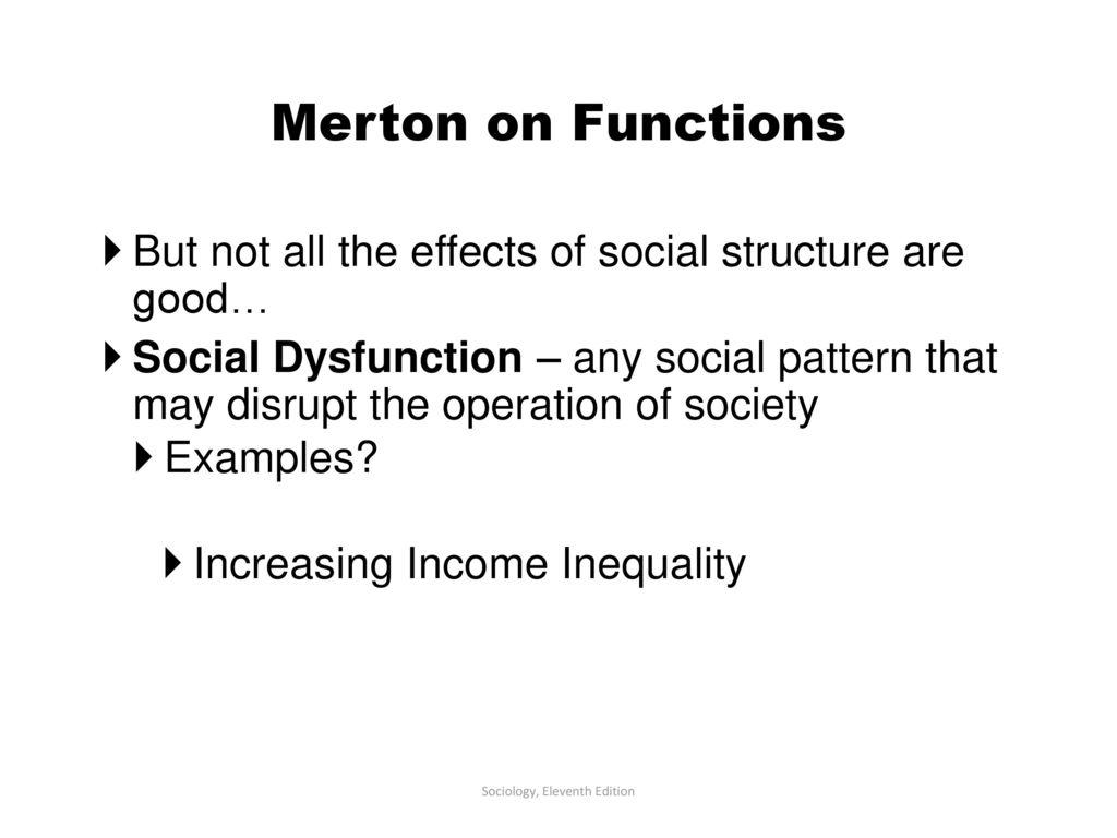 social dysfunction sociology