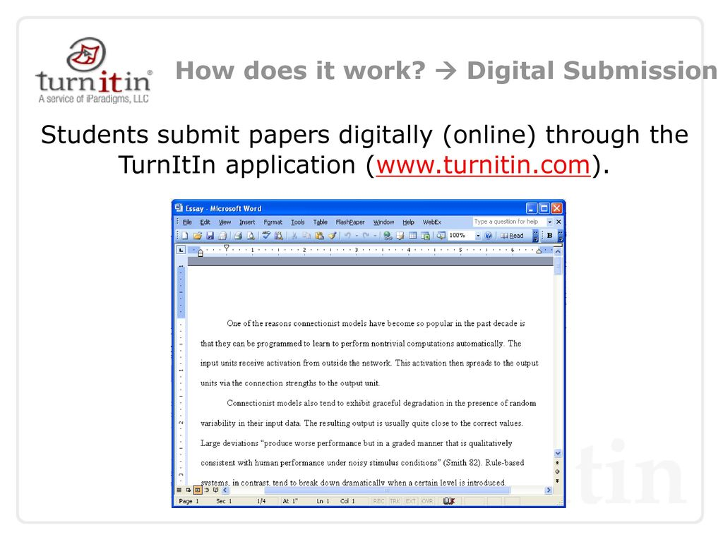 does turnitin work
