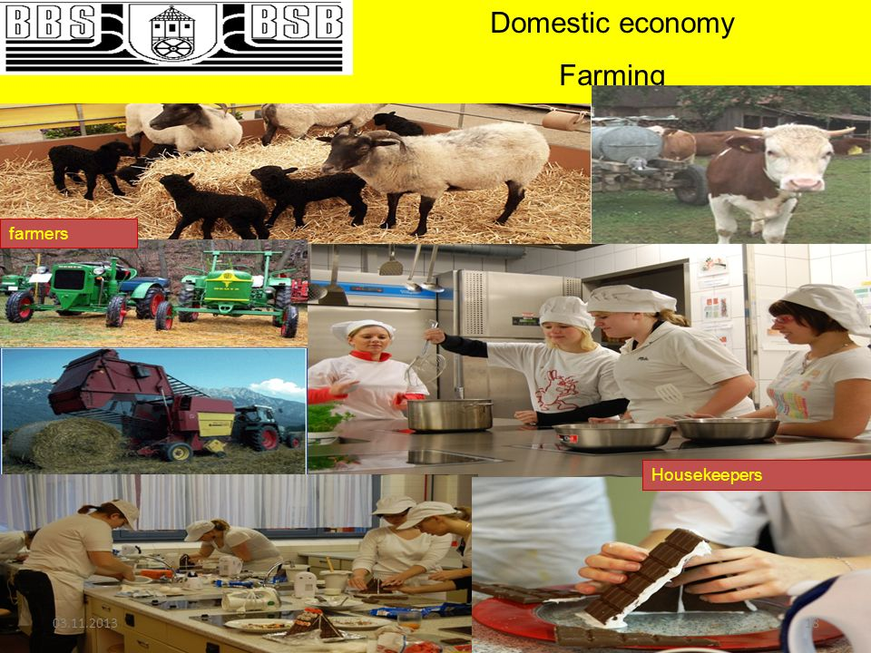 Domestic economy Farming farmers Housekeepers
