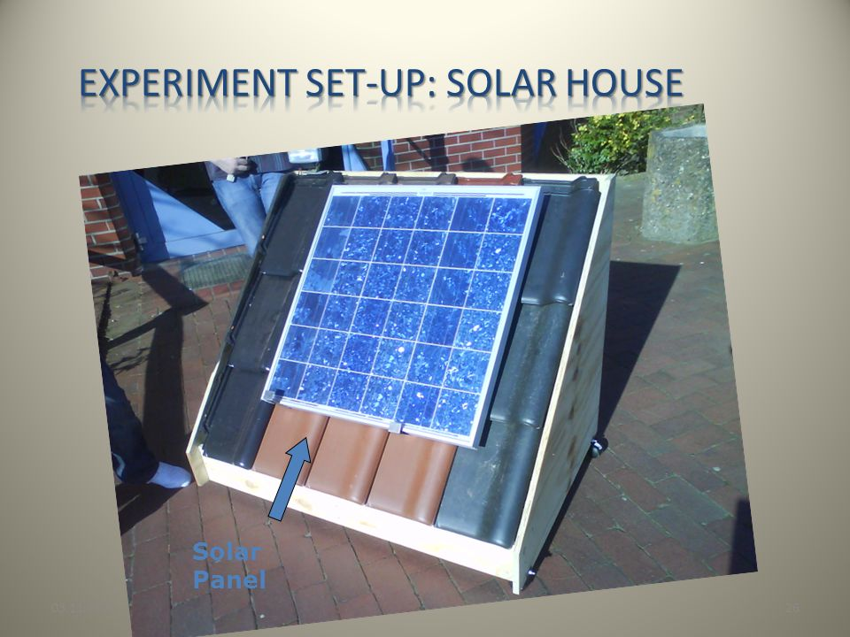 Experiment set-up: Solar house