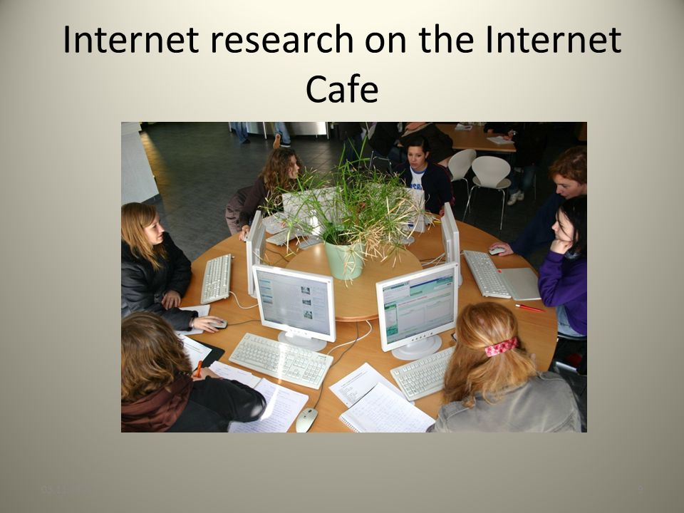Internet research on the Internet Cafe