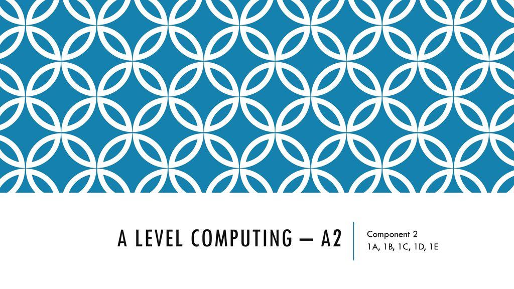 1 A Level Computing A2 Component 2 1A 1B 1C 1D 1E