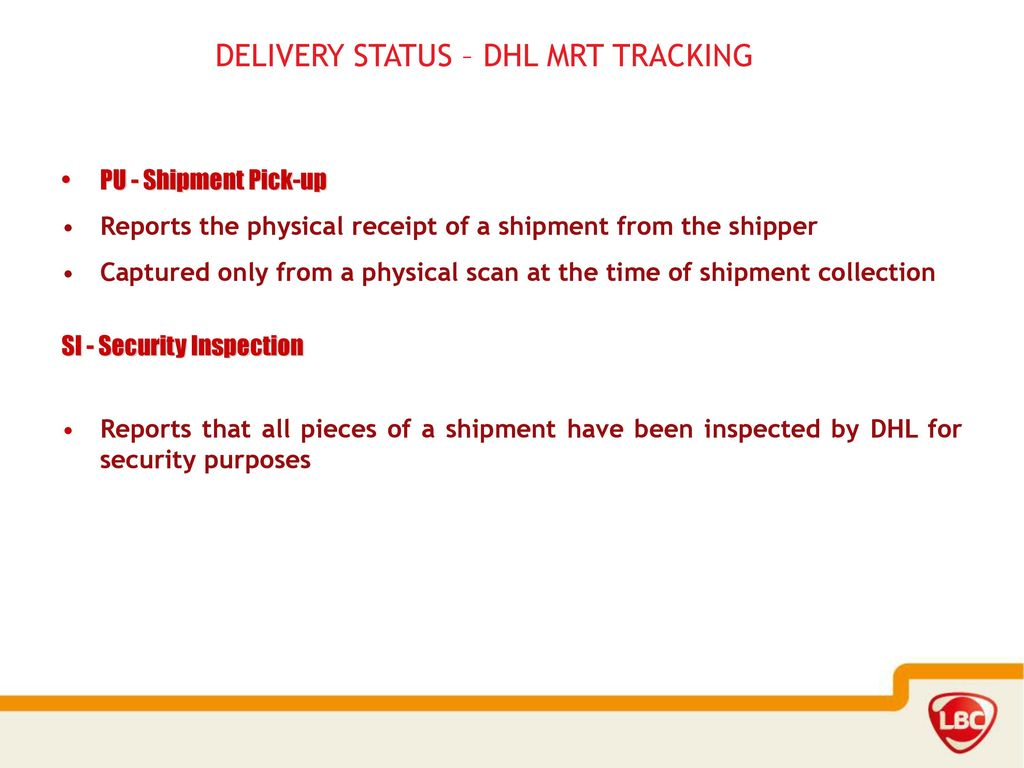 delivery status dhl mrt tracking