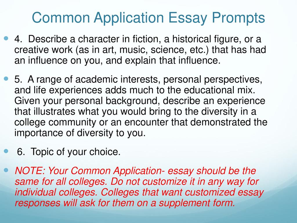 Uc Prompts Prompt  Tell Us About A Personal Quality Talent  Common Application Essay Prompts Simple Essays For High School Students also Help Writing Essay Paper  Essays On Science Fiction