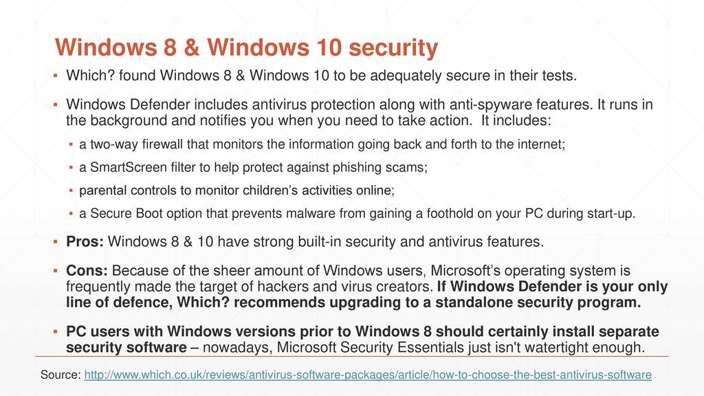 microsoft security essentials windows 10 reviews
