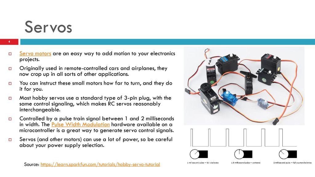 CU ATLAS Practical electronics Motion and Servos - ppt download