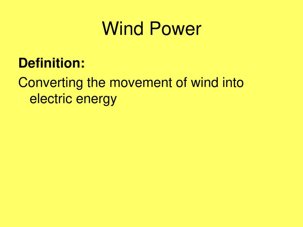 renewable energy. - ppt download