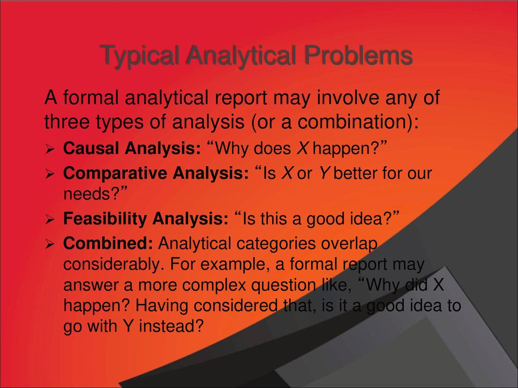 formal analytical report examples