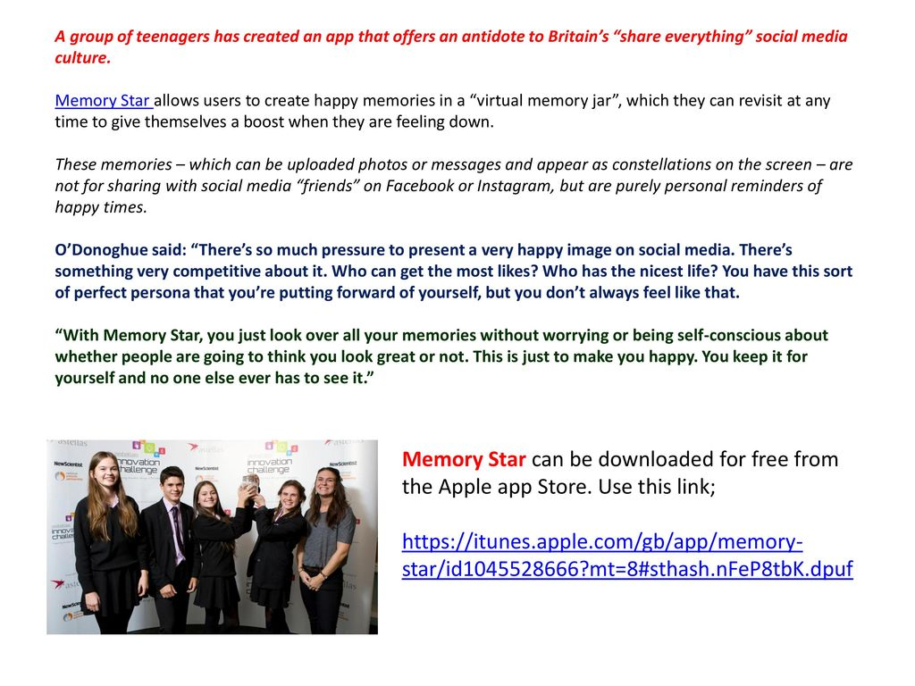 Memory Star: the happy app that's not for sharing - ppt download