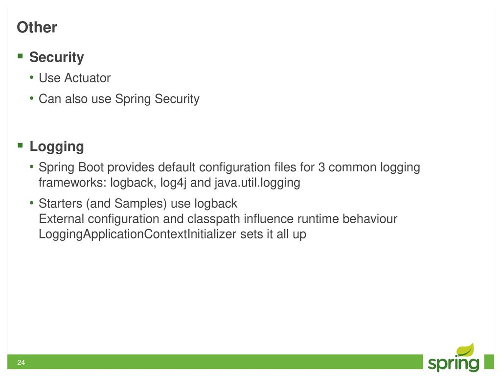 Zero Effort Spring: An intro to Spring Boot - ppt download