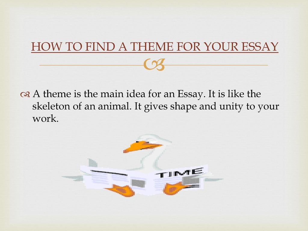 Writing An Essay  Ppt Download How To Find A Theme For Your Essay Argumentative Essay Examples High School also An Essay About Health  How To Write A Proposal For An Essay