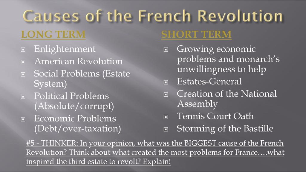 short and long term causes of the american revolution