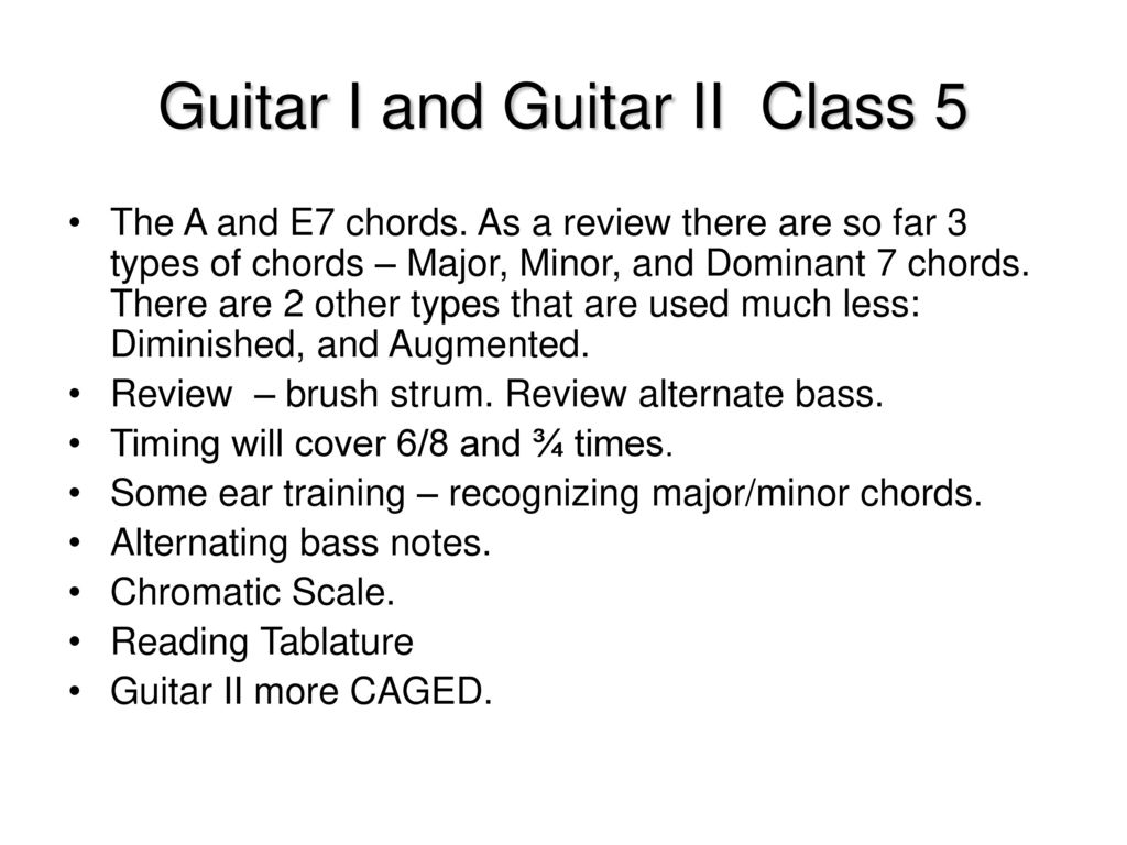 Guitar I And Guitar Ii Class 5 Ppt Download