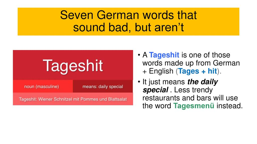 seven german words that sound bad but aren t ppt download