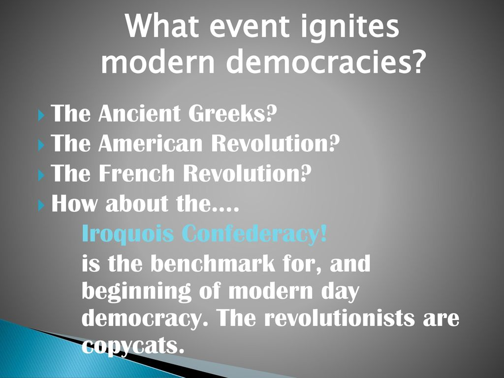 the role of revolution and modern democracy