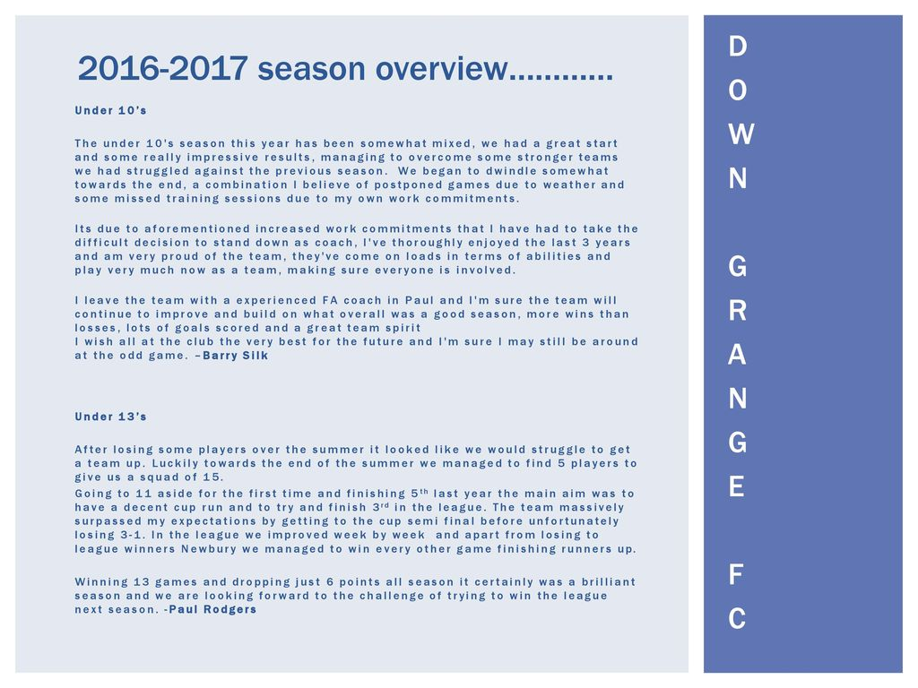 End of Season news letter - ppt download