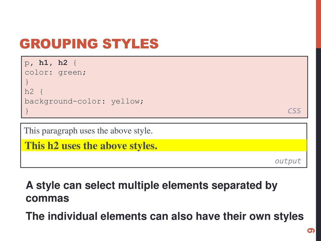 Css multiple classes comma