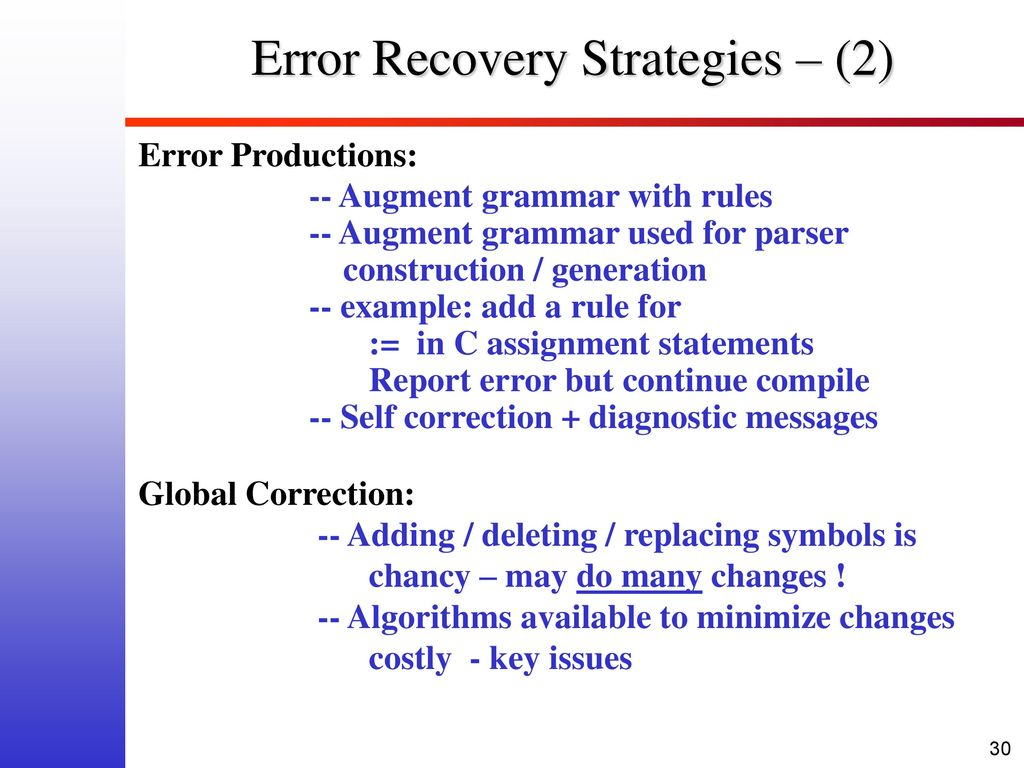 Problems With Top Down Parsing Ppt Download