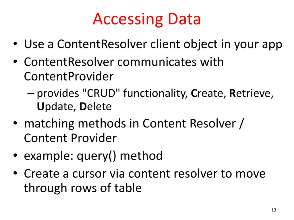 Content Providers And Content Resolvers - ppt download