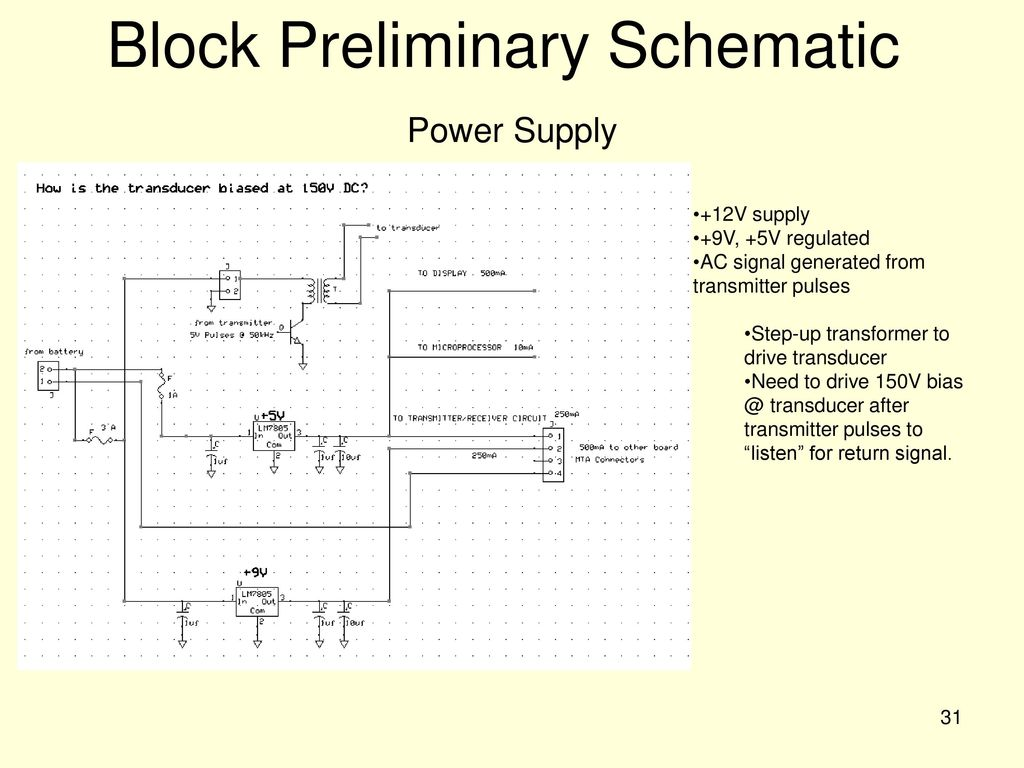Ee 595 Capstone Design Project Ppt Download Best 12 Volt Auto Battery Charger Circuit Using Lm311 Electronic Block Preliminary Schematic Power Supply
