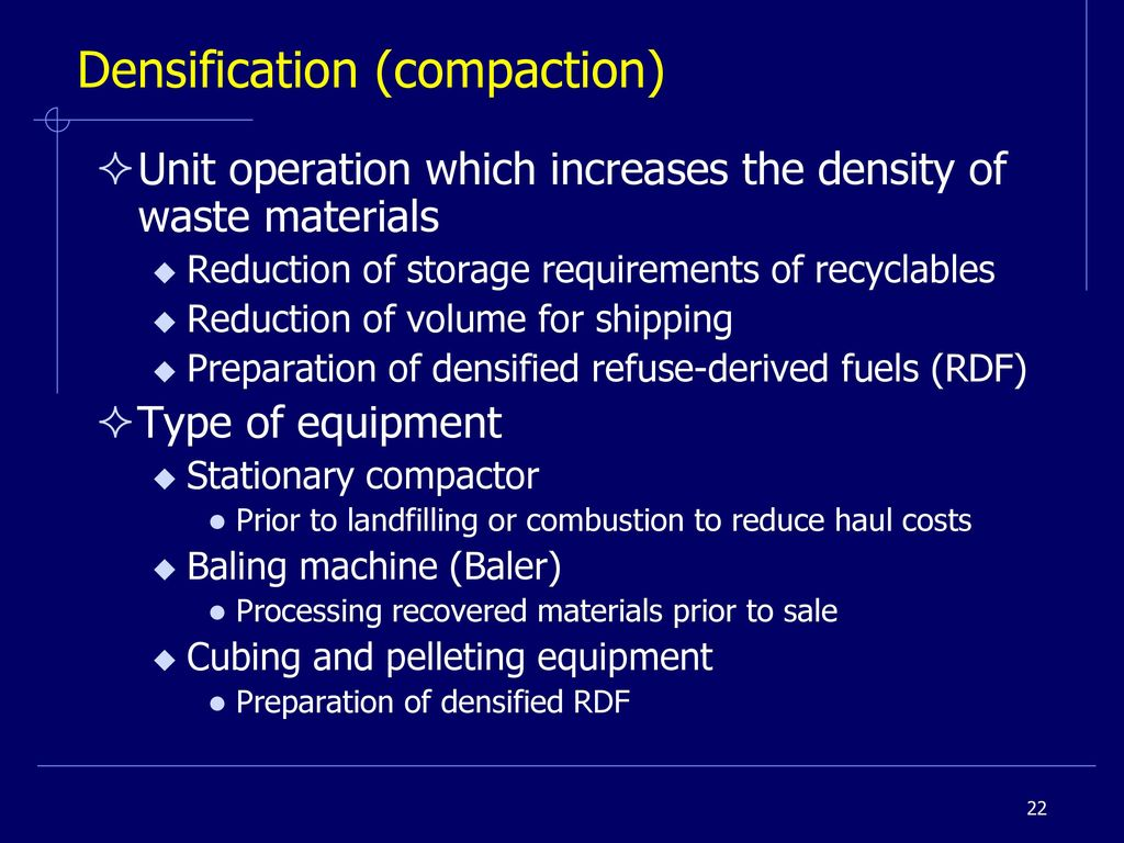 Pb389 Integrated Solid Waste Management Ppt Download Industrial Compactors Wiring Diagrams 22 Densification Compaction